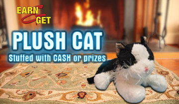 Earn-N-Get Plush Cat