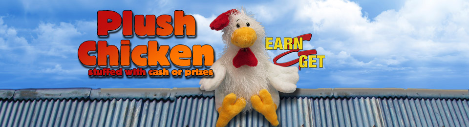 EARN-N-GET Plush Chicken
